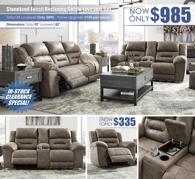 Stoneland Fossil Reclining Sofa & Loveseat_Layout_ALT_39905