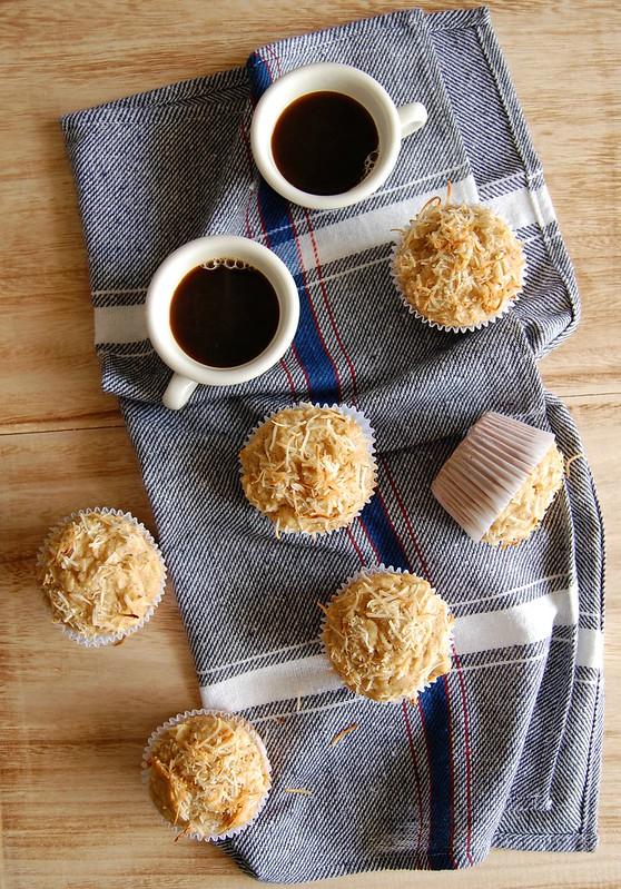Muffins de maçã e coco