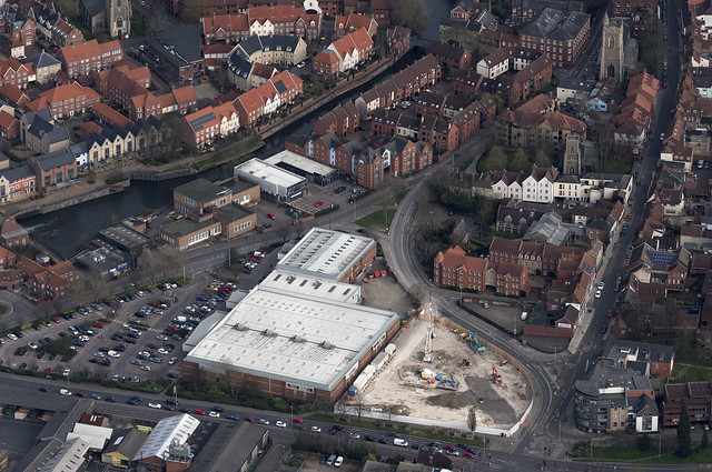 Development of new student accommodation on Barn Road in Norwich - Norfolk aerial image