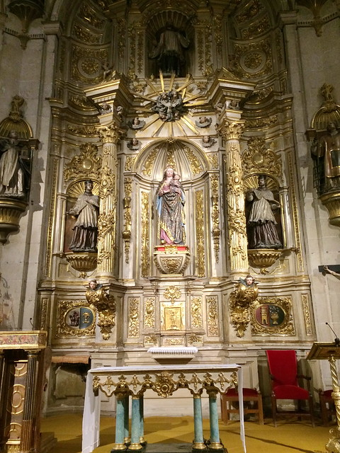 capilla del Santisimo retablo interior Concatedral de Santa Maria de la Redonda Logroño La Rioja