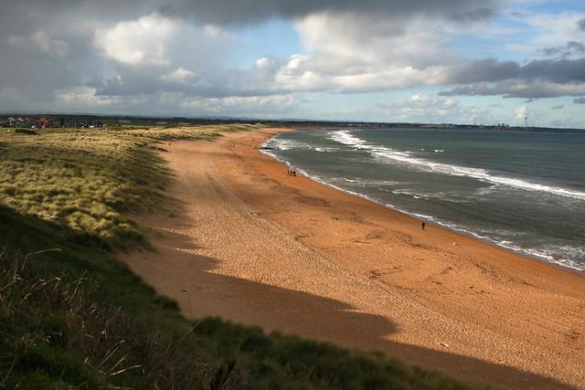 Hartley Links beach at Sleaton Sluice