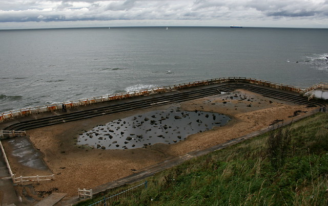 Derelict swimming pool, Tynemouth