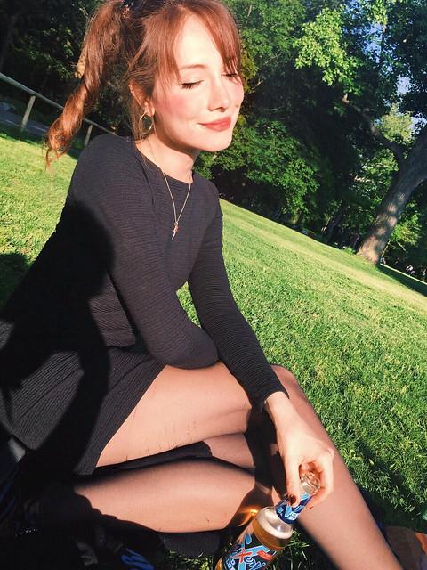 girl in the summer sun