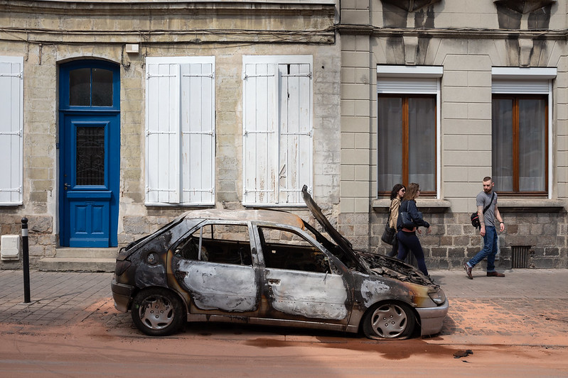 Burned Car in Valenciennes