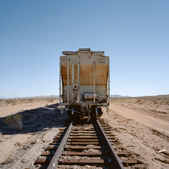 last train to nowhere. mojave desert, ca. 2012.