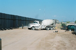 SEABEES building the FENCE US/Mexican boarder July 2008 JTFN