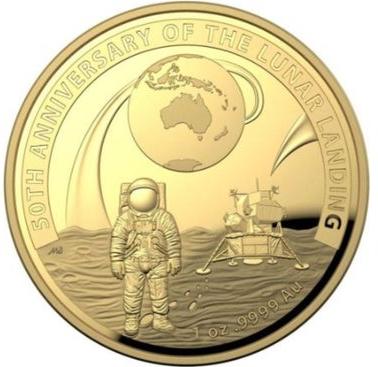 Australia Lunar Landing $100 obverse