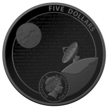 Australia Lunar Landing $5 reverse