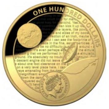 Australia Lunar Landing $100 reverse