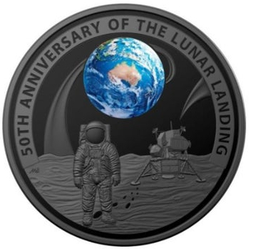 Australia Lunar Landing $5 obverse