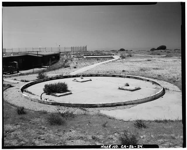 VIEW SHOWING CIRCLE CONCRETE PAD AT RADAR SITE, LOOKING SOUTH Everett Weinreb