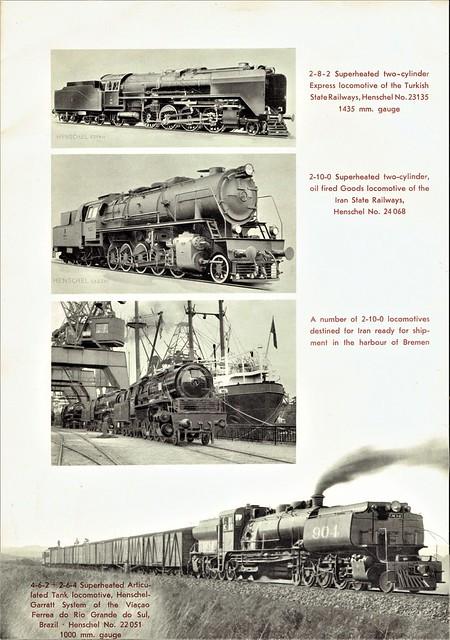 Henschel Locomotive Works (Kassel) - Steam Locomotives Sales Brochure (1952)