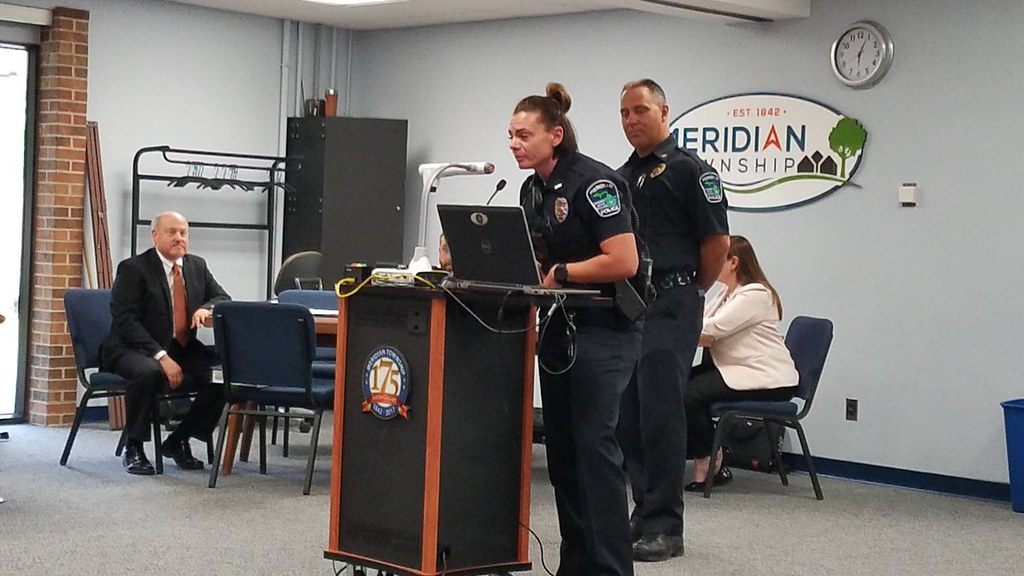 Meridian Township Board Welcomes New Police Officer: Jaclyn Allen