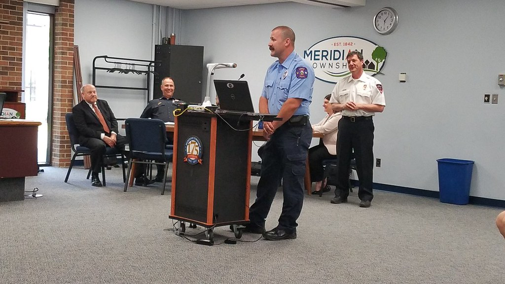 Meridian Township Board Welcomes New Firefighter/Paramedic: Donald Carr