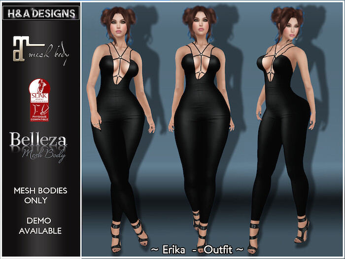 [H&A Designs]-Erika Outfit Black