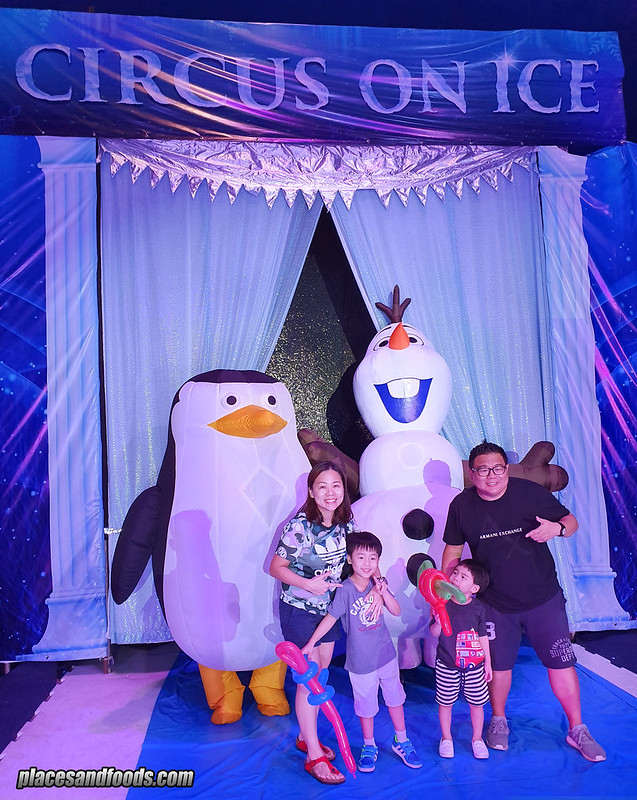 circus on ice places and food