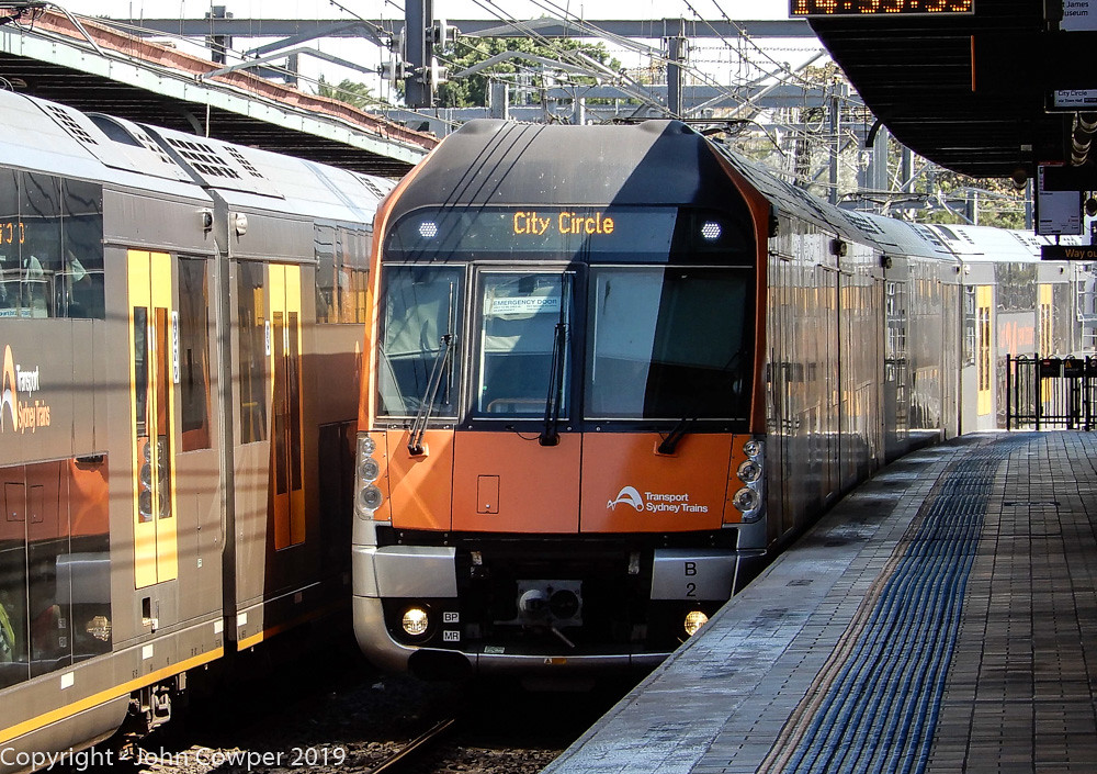 Sydney Trains - Waratah 2 Set - B2 - At Central by John Cowper