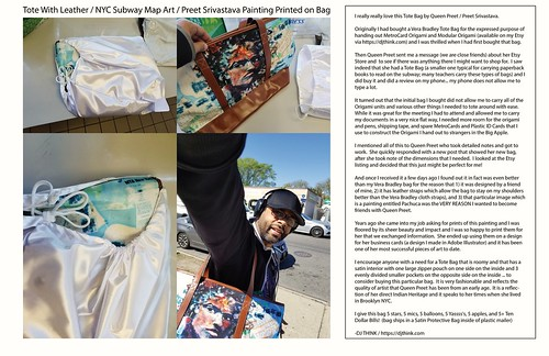 Review of Queen Preet / Preet Srivastava Indian Art And Clothing Tote Bag (Etsy) 2019 | by realdjthink (Rene Toussaint)