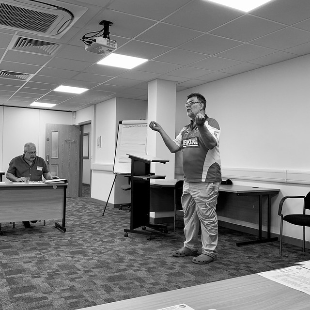 Steve wraps up the Toastmasters meeting