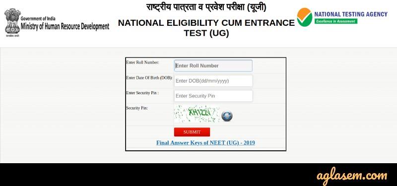 Neet 2020 Result Check Neet Result Link Timing Download Score Card Here Aglasem Admission