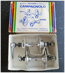 Campagnolo Large Flange Record Hubs.