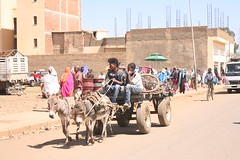 Traffic in Mendefera, a town in southern Eritrea. Credit: Milena Belloni/IPS