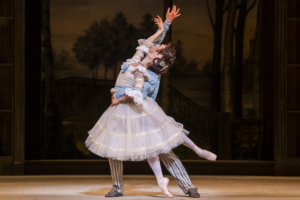 Marianela Nuñez as Natalia Petrovna and Matthew Ball as Beliaev in A Month in the Country, The Royal Ballet © 2019 ROH. Photograph by Tristram Kenton