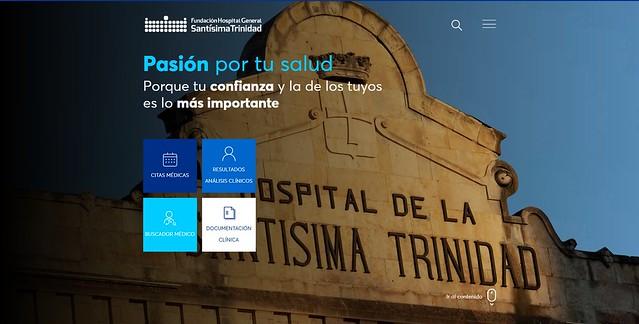 Página web de la Fundación Hospital General de la Santísima Trinidad.