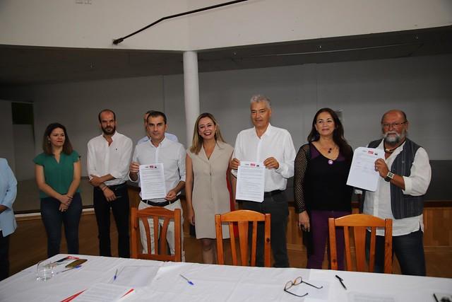 Pacto Ayt. de Tías PSOE,Lava y Podemos