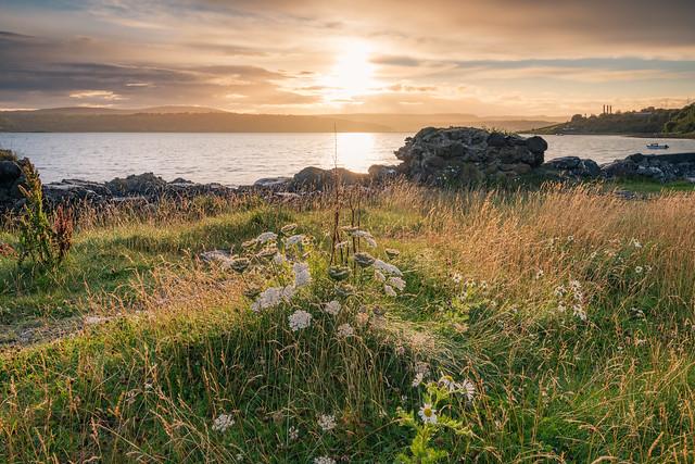 Sunset on Larne Lough, Millbay