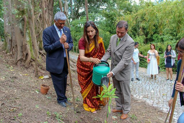 Embaixada da Índia - Ação de plantação no JBUC