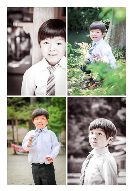 ネクタイをした5歳の男の子