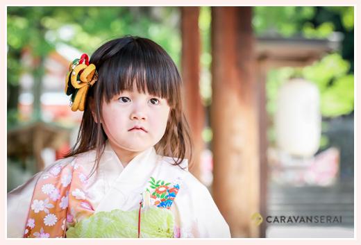 七五三 3歳の女の子 ヘアスタイル ヘアアクセサリー