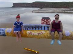 Knitted Saltburn Pier 150 bathing