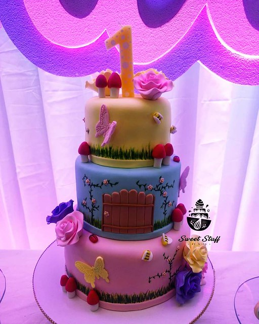 Enchanted Fairy Garden Cake by Danica Magtoto of SweetstuffbyNica Cakes & Cupcakes