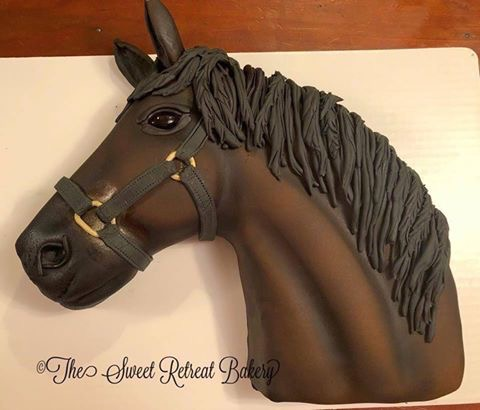 Horse Head Cake by Jessica Green of The Sweet Retreat Bakery