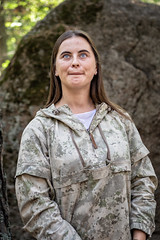 Svetlana, guide in the Stolby Nature Reserve - Siberia - Russia