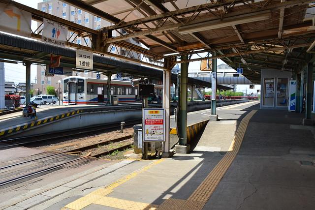 水海道駅 駅内踏切