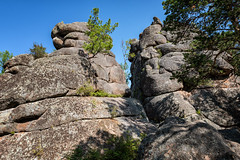 The grandmother's rock in the Stolby Nature Reserve - Siberia - Russia