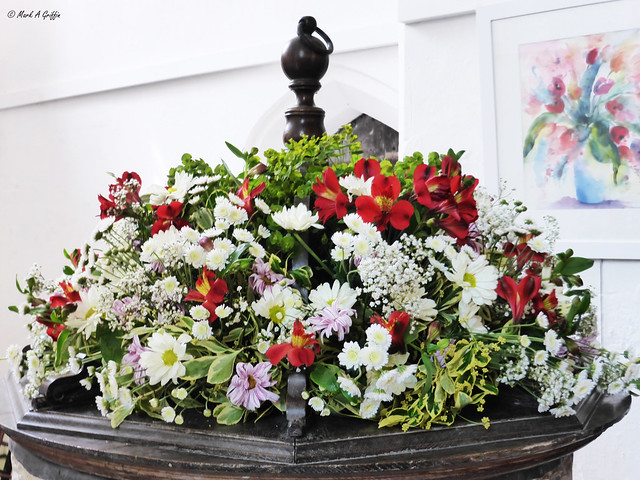 Flowers in the font