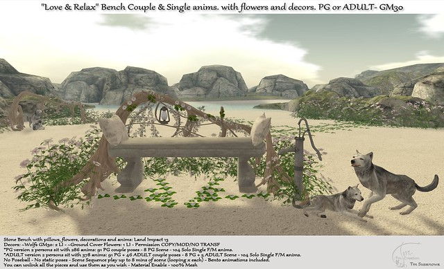 """.:Tm:.Creation """" """"Love & Relax"""" Bench with anims and decors GM30"""