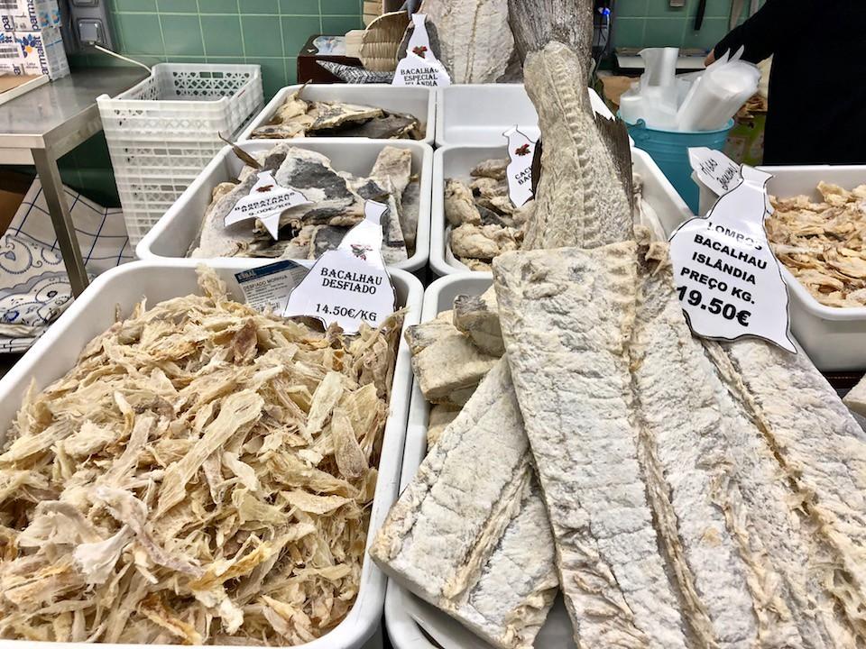 Baccalà essiccato al mercato