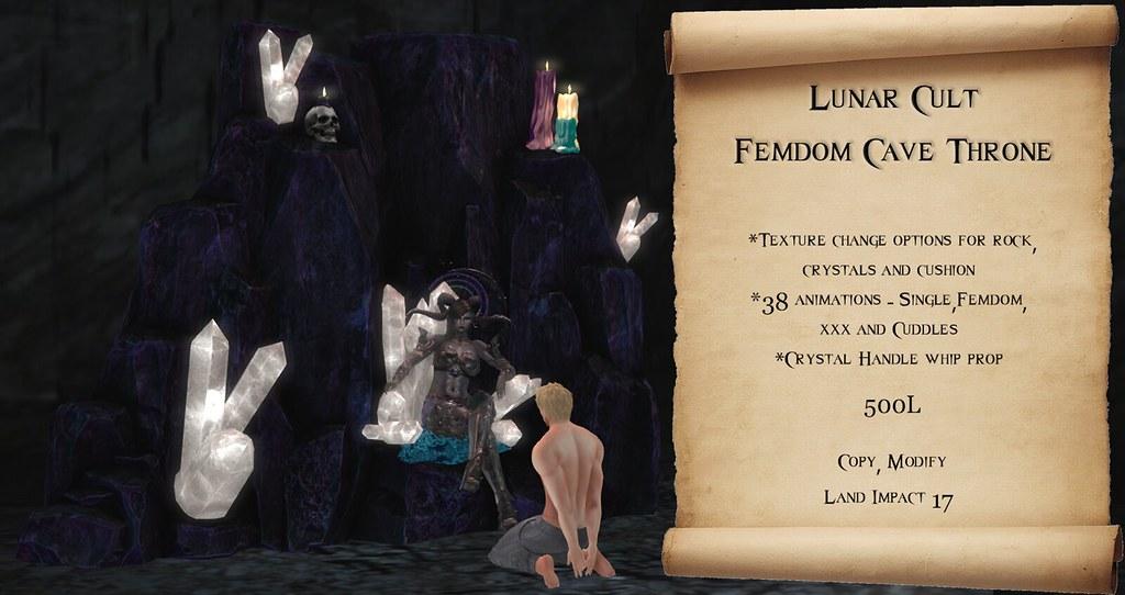 Lunar Cult – Femdom Cave Throne