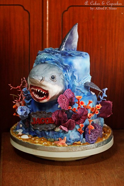 Shark Cake by Alfred Fernandez Nimo of A. Cakes & Cupcakes