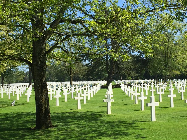 In honor of the 75th anniversary of D Day here's the American Cemetery in Normandy, France.