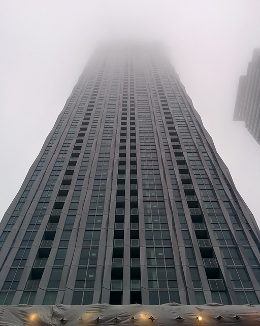 1 Yorkville into the clouds #toronto #yorkville #1yorkville #condos #architecture #grey #sky #clouds #fog