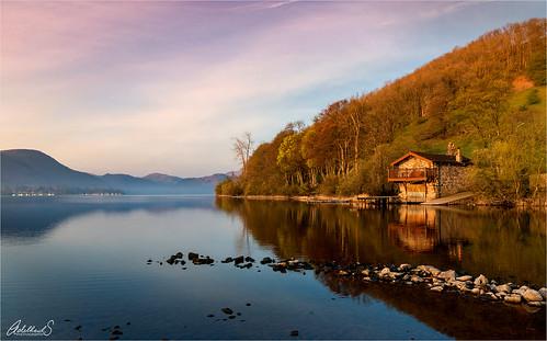 lake spring dawn sunrise boathouse dukeofportland cumbria uk britain lakedistrict ullswater england adelheidsphotography