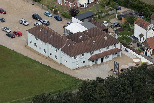 The Dormy House in West Runton - Norfolk aerial image
