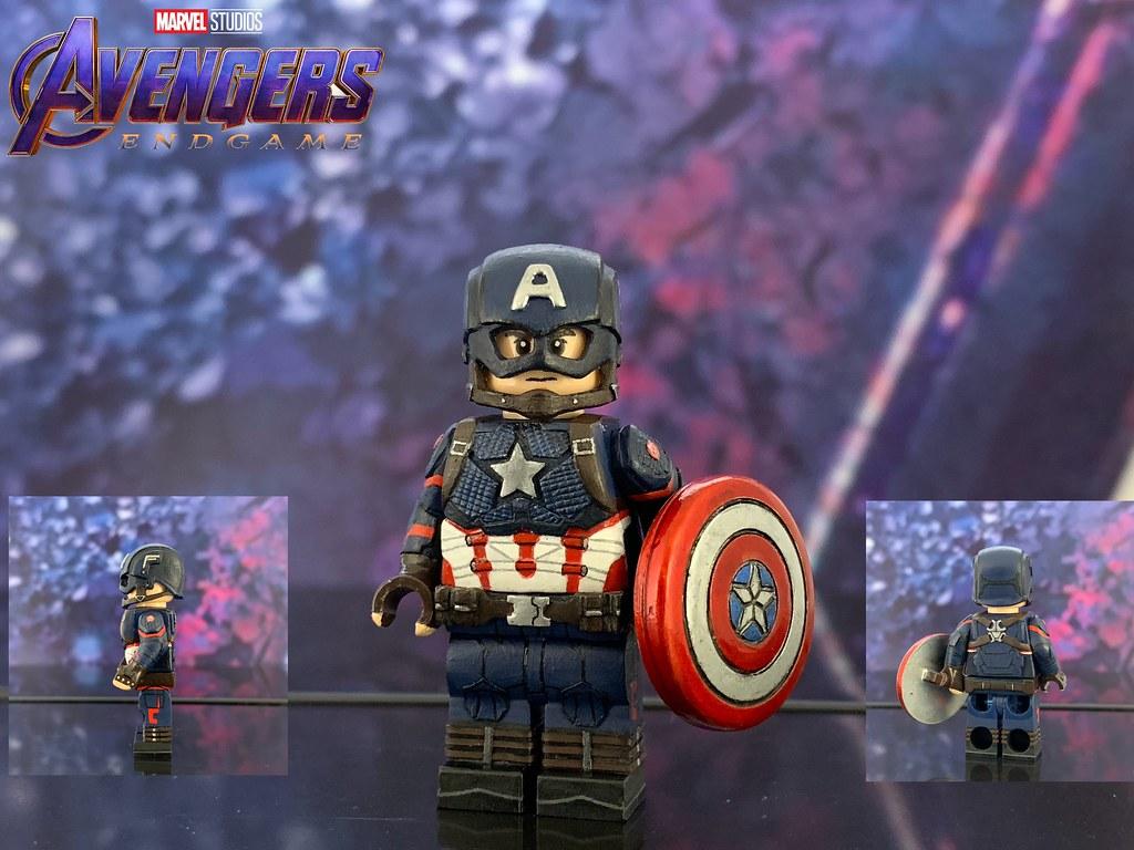 Captain Marvel Minifigure Avengers End Game Figure For Custom Lego Minifigures