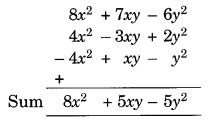 Algebraic Expressions and Identities NCERT Extra Questions for Class 8 Maths Q5